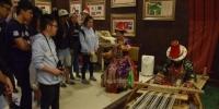 图为大学生参访肃南裕固族自治县非遗中心。 陈素怡 摄 - 甘肃新闻