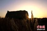深秋十月,夕阳洒在玉门关遗址上,显得更加苍凉厚重、雄浑壮观,远眺如一幅秋景油画。 张晓亮 摄 - 甘肃新闻