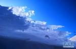 """祁连山下蓝色冰河如梦似幻 恍若""""冰河世纪"""" - 中国甘肃网"""