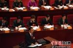 图为甘肃省长唐仁健作《政府工作报告》。 - 甘肃新闻