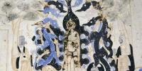 图为敦煌莫高窟北周第290窟,描绘着龙神为刚出生的悉达多太子沐浴灌顶的画面。 敦煌研究院 供图 - 甘肃新闻