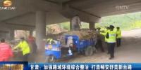 甘肃卫视:加强路域环境综合整治 打造畅安舒美新丝路 - 交通运输厅