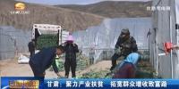 甘肃:聚力产业扶贫 拓宽群众增收致富路 - 甘肃省广播电影电视