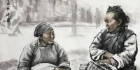 """图为王鸿庆""""记录""""的邻里之间的温情。 魏建军 摄 - 甘肃新闻"""