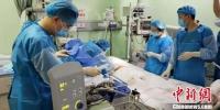 甘肃省人民医院重症医学科医生正在手术中。(资料图) 南如卓玛 摄 - 甘肃新闻