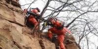 图为森林消防不畏艰险进入火场。 甘肃森林消防总队供图 - 甘肃新闻