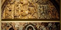 """该展览用50多幅珍贵图片,聚焦敦煌石窟艺术和西班牙罗马式壁画艺术,展现中西绘画的不同魅力。展览分为""""符号与图像""""""""生平叙述""""""""想象的景观""""和""""当代目光""""四大板块,将现实与历史相结合,跨越时代与地域,从比较文化学的视角,揭示了中西历史、文化和艺术的异同。 孟捷 摄 - 甘肃新闻"""