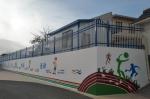 学校组织师生在郭嘉镇学区开展校园墙面美化活动 - 兰州城市学院