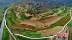 """图为定西市安定区经过多年水土流失治理后,沟壑间""""披绿覆土""""。(资料图) 李昊 摄 - 甘肃新闻"""