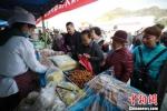 图为活动现场放心粮食的展台前,吸引民众前来品尝购买。 史静静 摄 - 甘肃新闻