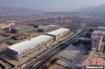 图为正在建设中的多式物流园。(资料图)甘肃(兰州)国际陆港供图 - 甘肃新闻