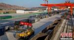 图为兰州陆港兰州铁路口岸。(资料图)甘肃(兰州)国际陆港供图 - 甘肃新闻