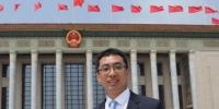 图为全国人大代表王刚接受采访。受访者供图 - 甘肃新闻
