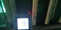 在冬季施工期间,工人使用设备实时测定混凝土温度。(资料图) 甘肃二建集团十六公司供图 - 甘肃新闻