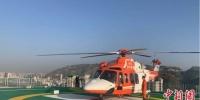 图为医疗救援直升机首飞患者转运演练现场。 何慕 摄 - 甘肃新闻